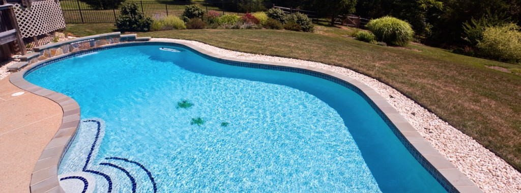 Blue Dream Pool Residential Concrete Inground Swimming Pool Renovation Diamond Brite Plaster Resurface Application