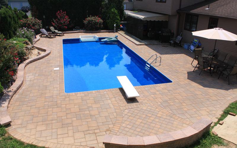 concrete pavers | blue dream pools | montgomery nj