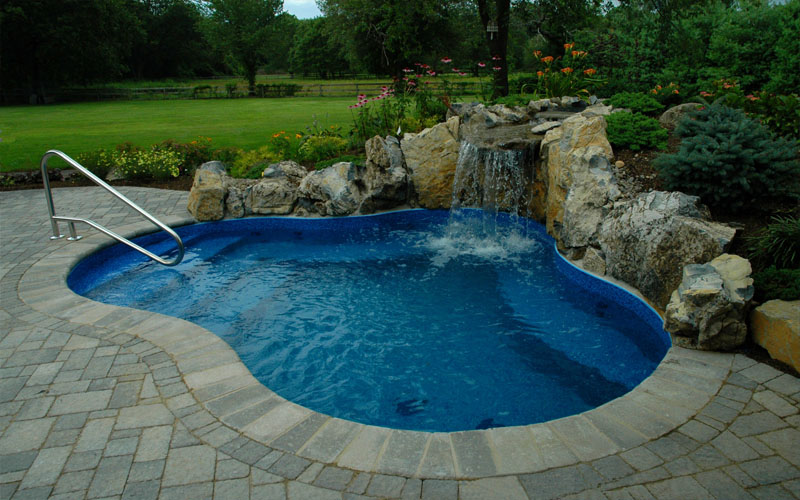Stone Patio Pool: Elevated stone patio ideas pictures remodel and ...