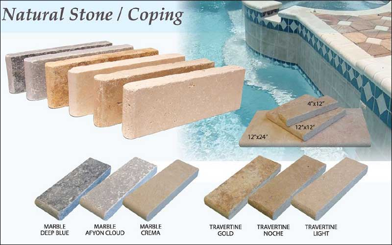 Travertine Pavers Blue Dream Pools Easton PA - Blue travertine natural stone tiles